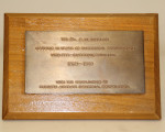 Plaque for Bob Whelan
