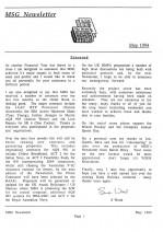 MSG Newsletter - 1994/05