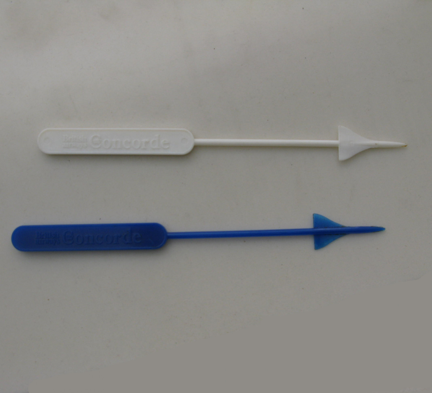 Pair of Concorde Cabin Cocktail Stirrers