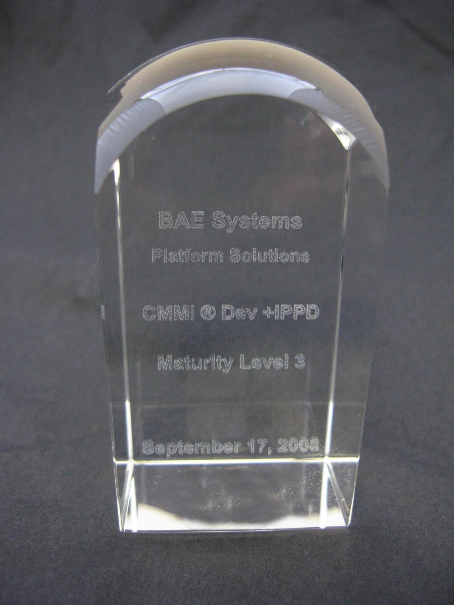 Maturity Level Award