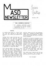 MASD Newsletter - 1989/12