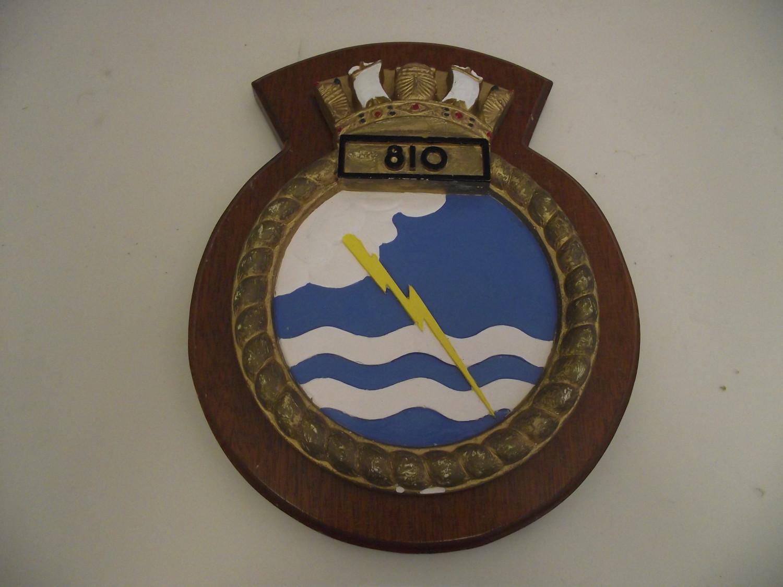 810 Squadron Plaque