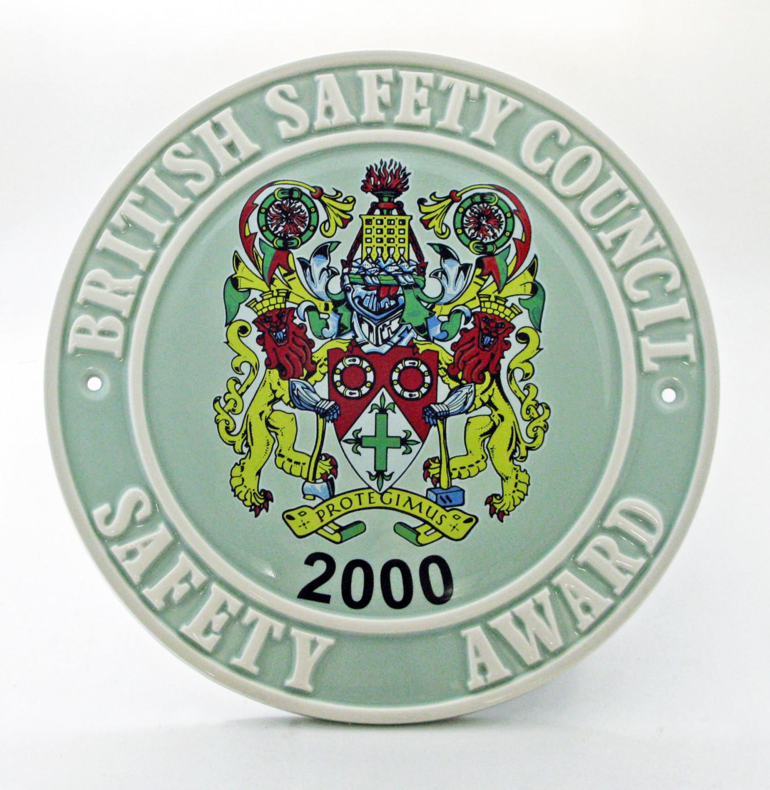 2000 Safety Award Plaque