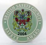 2004 Safety Award Plaque