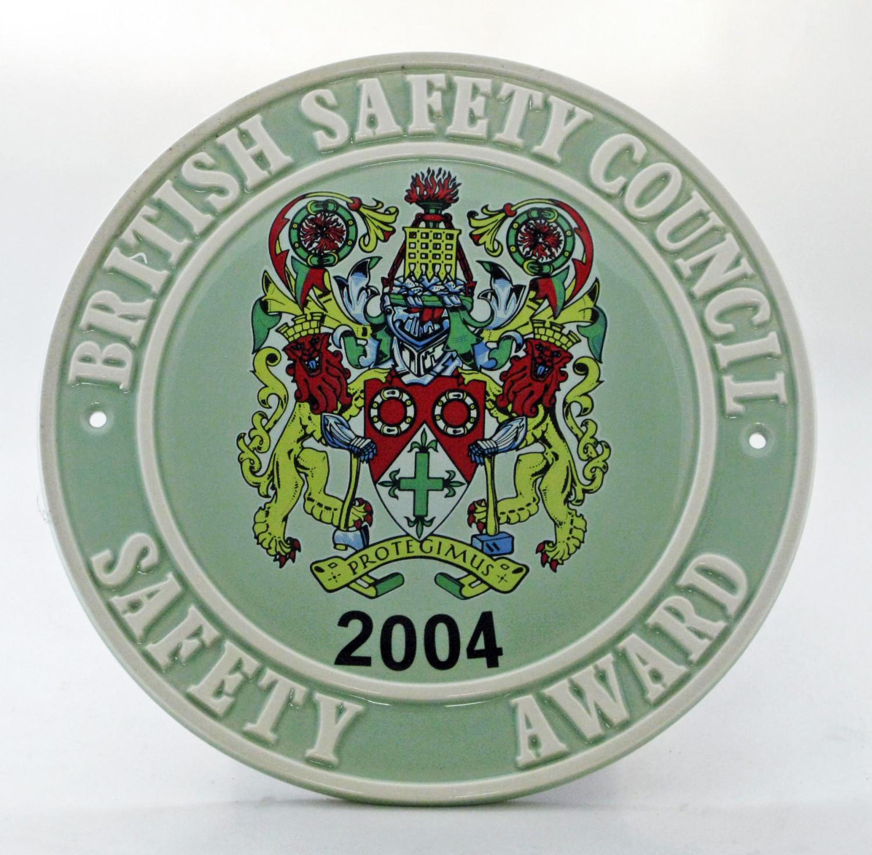 2004 Safety Award Plaque