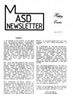 MASD Newsletter - 1991/03