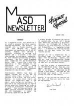MASD Newsletter - 1992/08