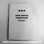 GEC Long Service Association (Rochester) Booklet
