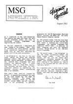 MSG Newsletter - 1993/08