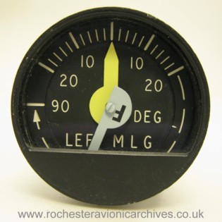 C-5A Left Main Landing Gear Castering Angle Indicator