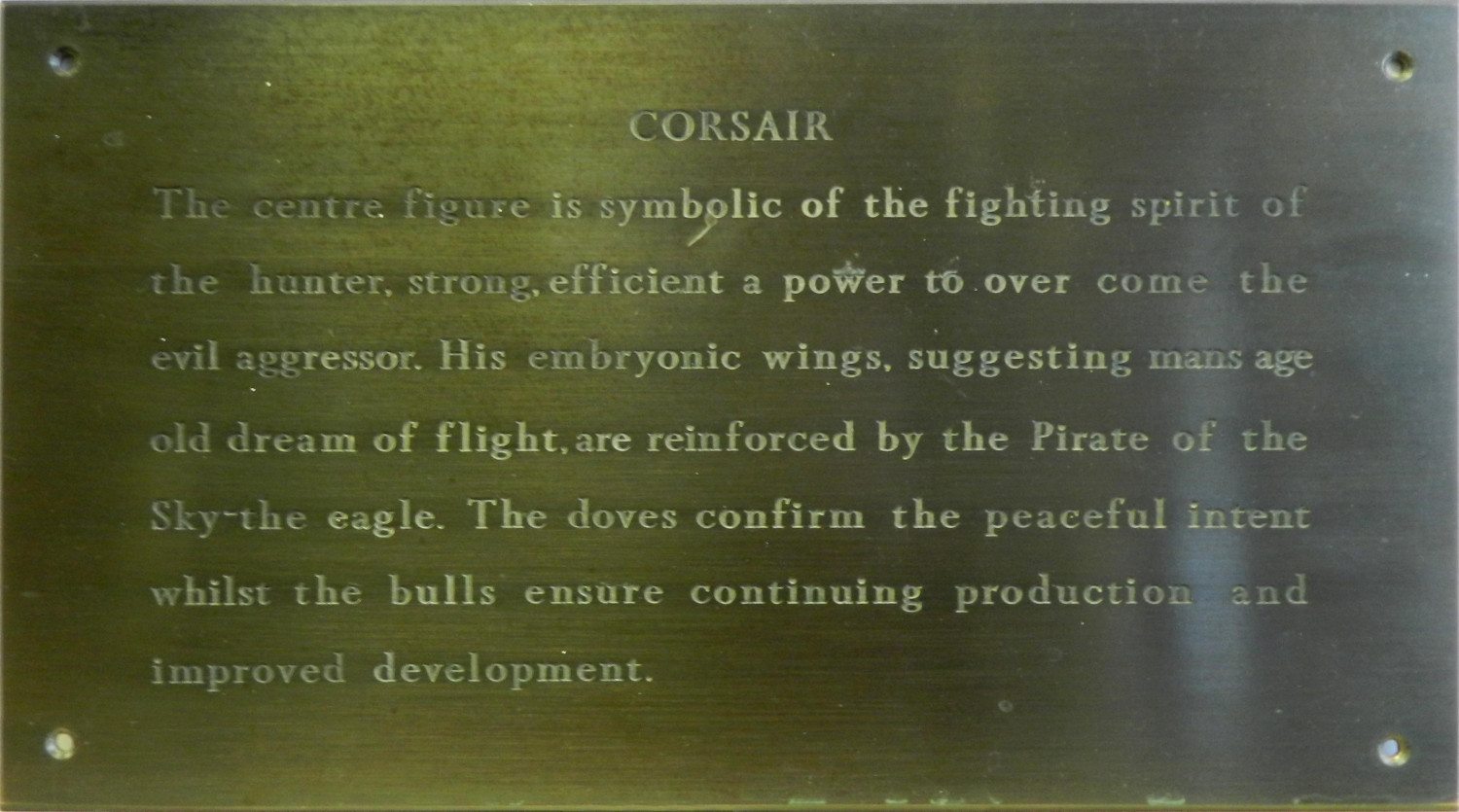 Plaque for Corsair Mosaic