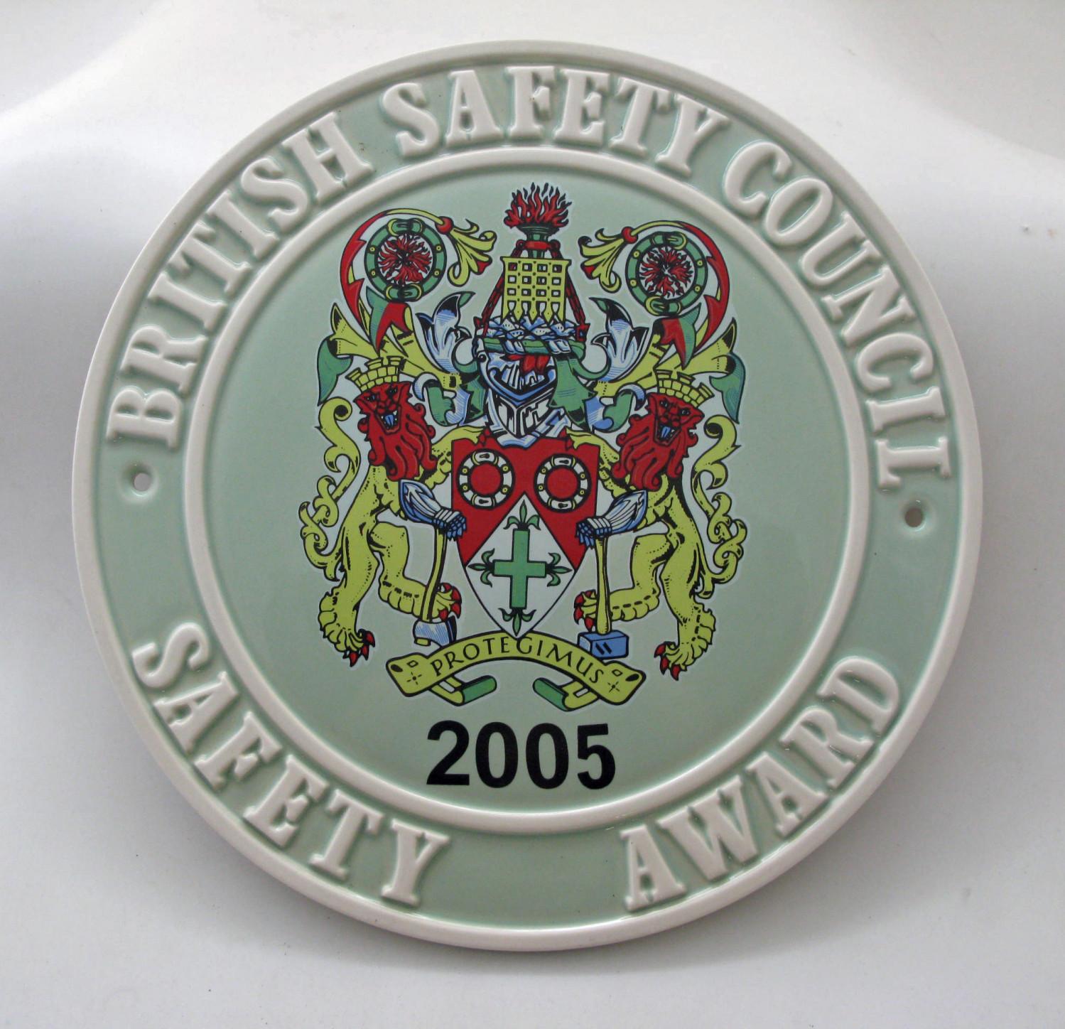 2005 Safety Award Plaque