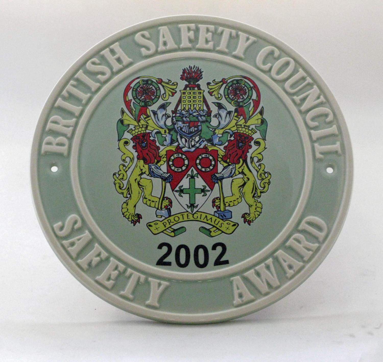 2002 Safety Award Plaque