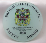 2008 Safety Award Plaque