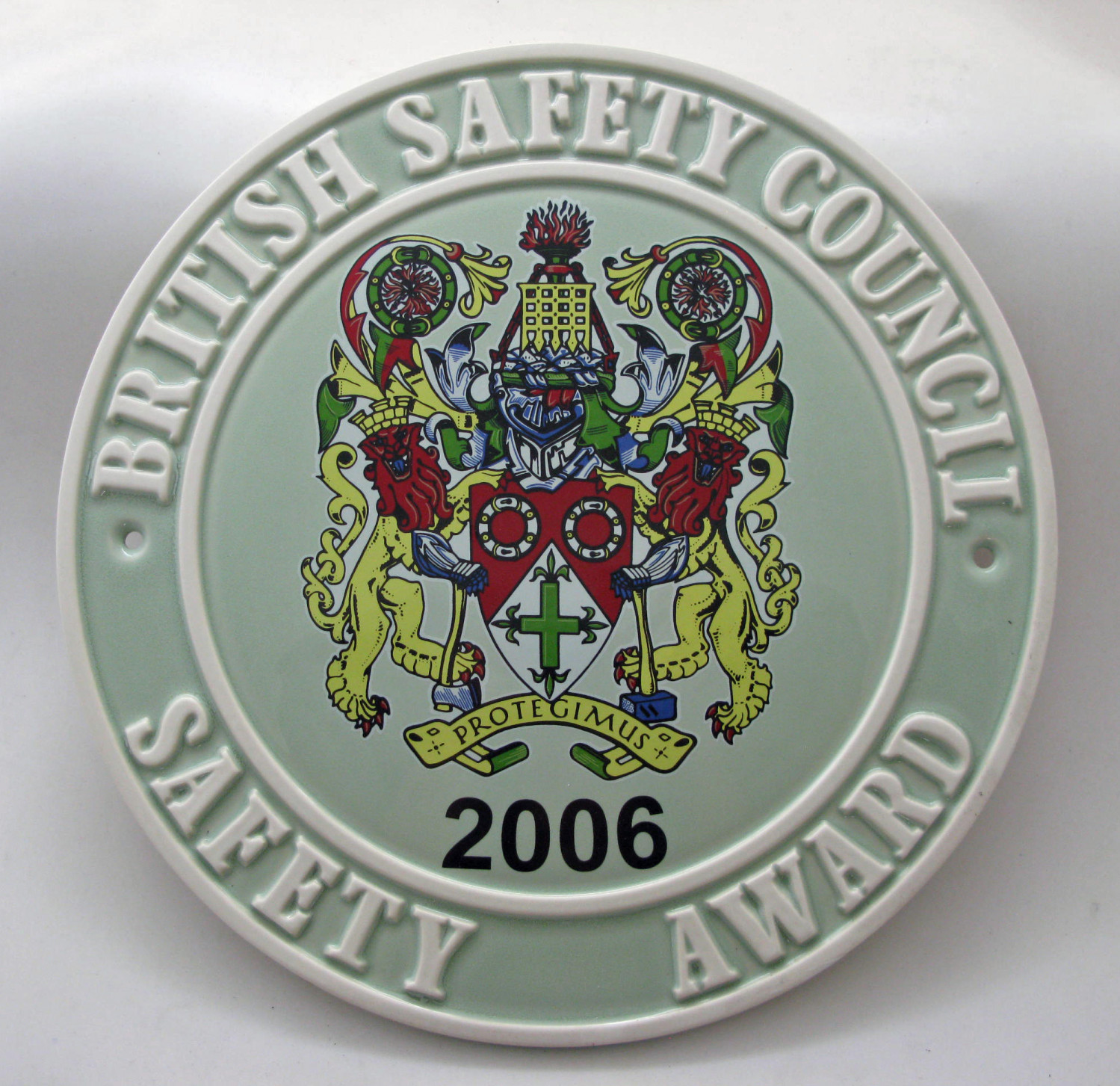 2006 Safety Award Plaque