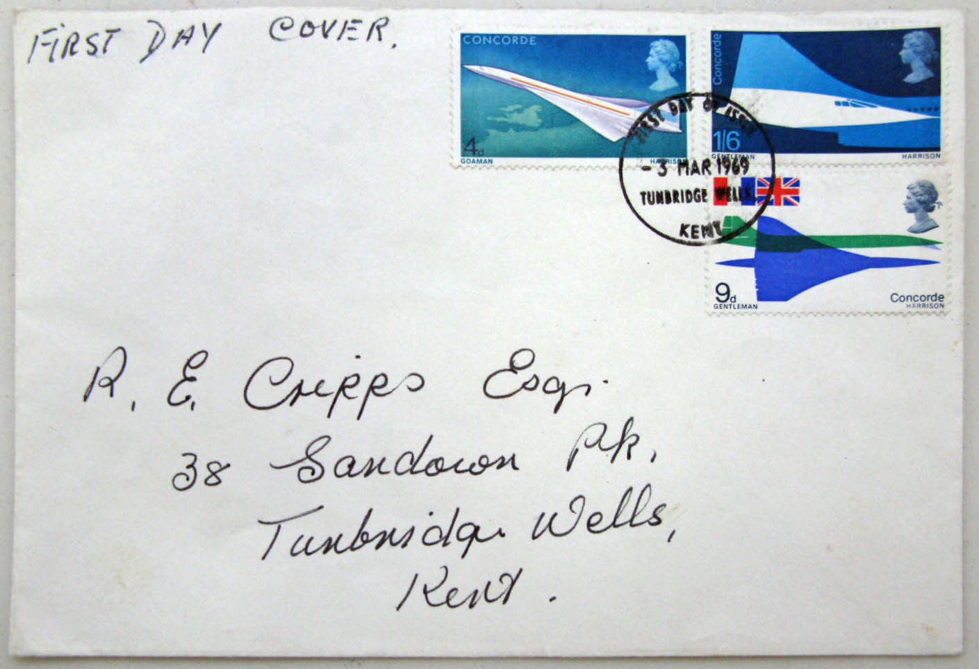 Concorde Stamps (first-day cover)