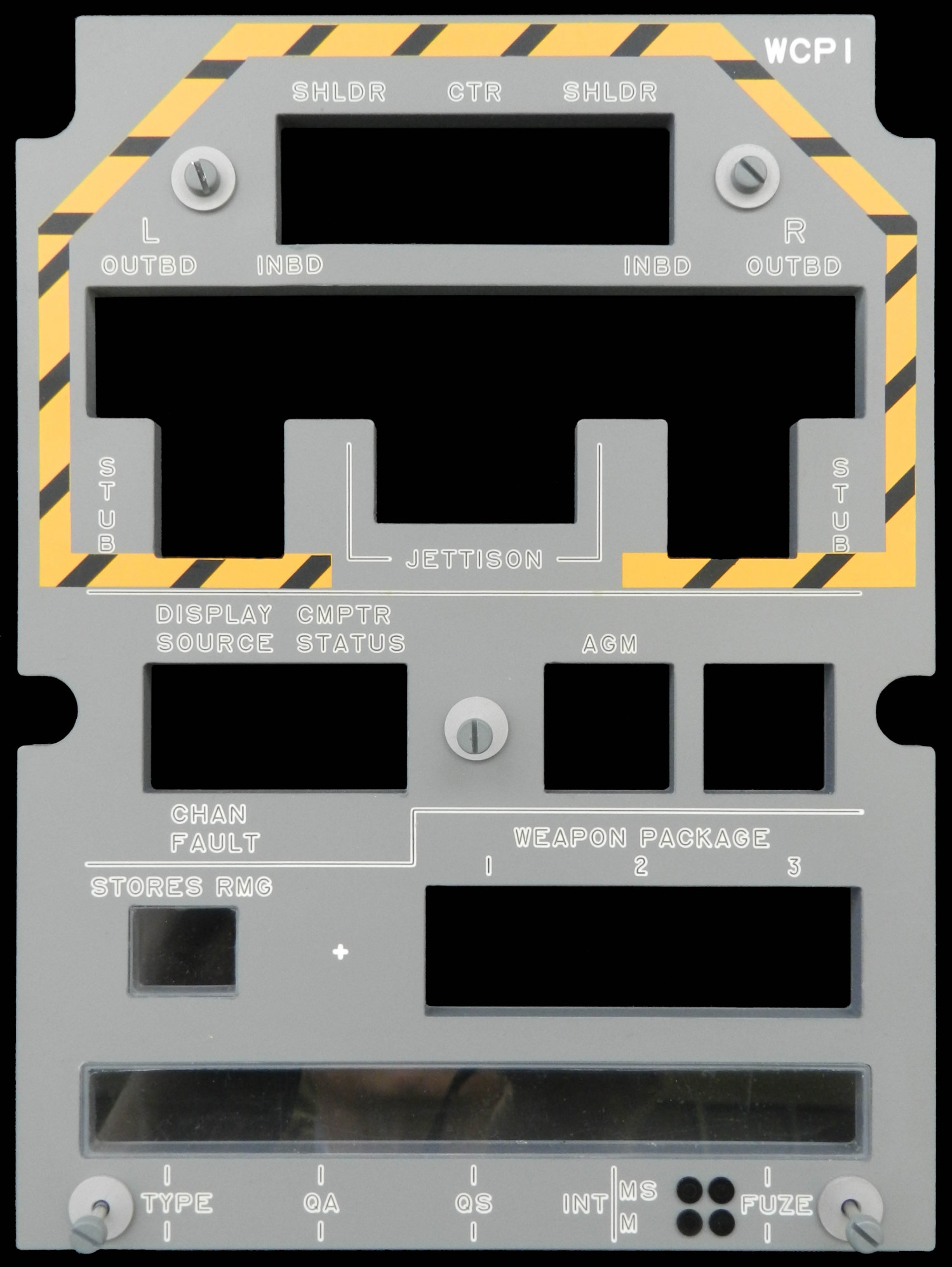 Front Panel Bezel for Weapons Control Panel 1