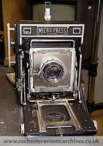 "Large format (5"" x 4"") film camera"