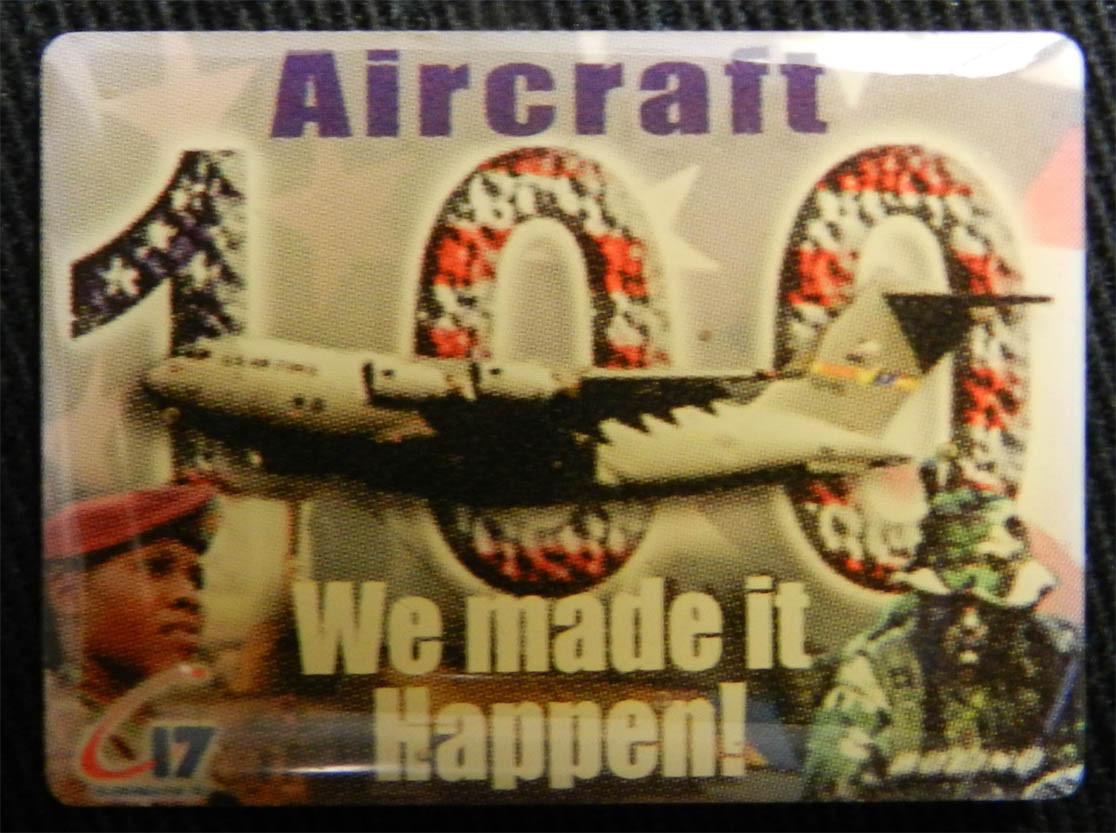 Boeing 100th C-17 Badge