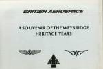 British Aerospace A Souvenir of the Weybridge Heritage Years