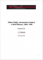 Elliott Flight Automation Limited  A Brief History, 1804- 1985