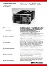 Airborne VHF/UHF Radio, ESD4600