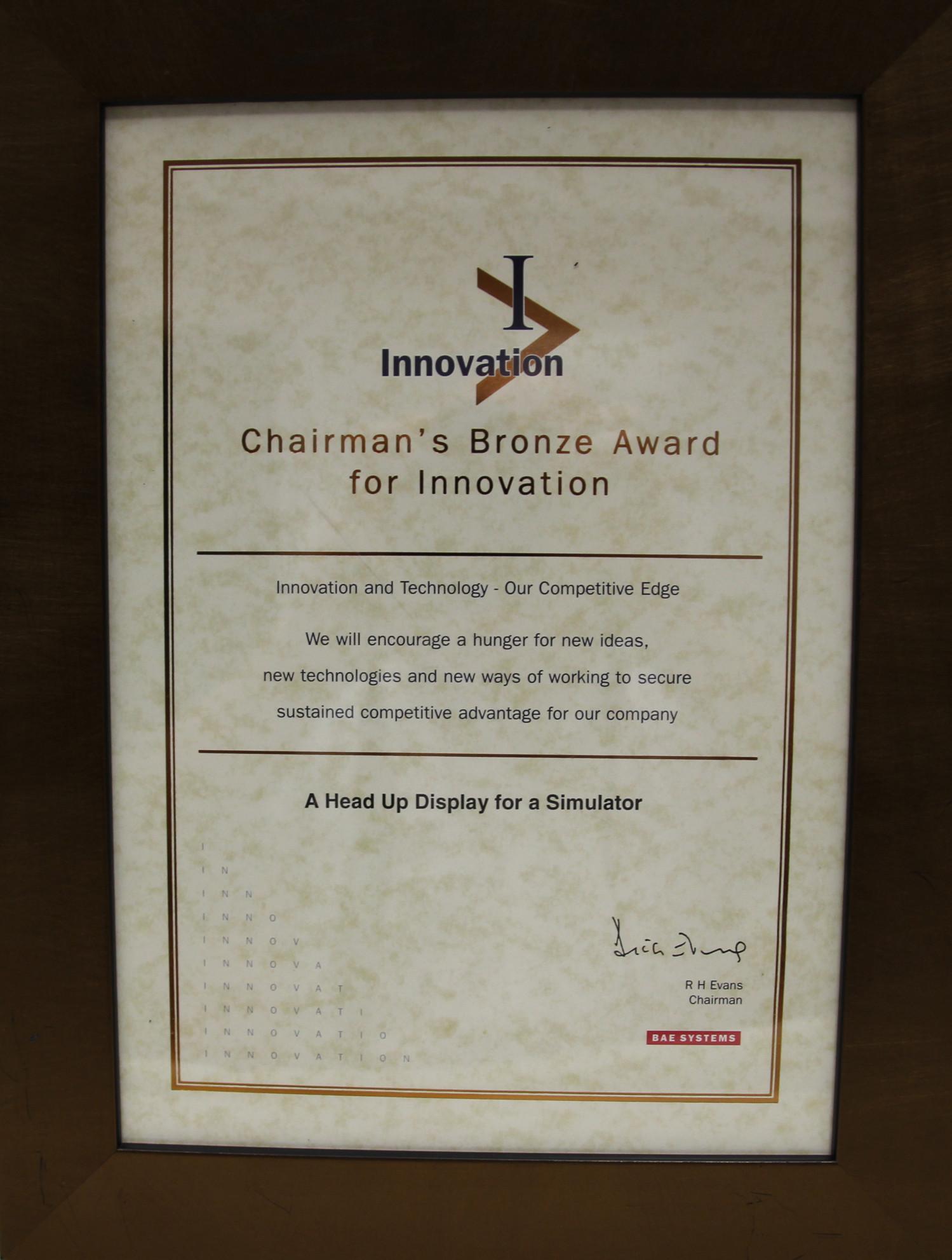 Chairman's Bronze Award for Innovation