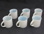 Set of six china cups from Concorde cabin service