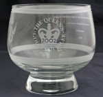 Glass bowl commemorating the Queen's Award for Innovation   2002