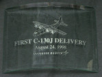 First C-130J Delivery Memento