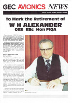 GEC AVIONICS NEWS Special - Bill Alexander's Retirement
