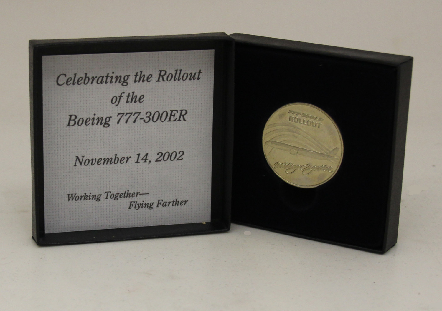 Medallion Celebrating the Rollout of the Boeing 777-300ER