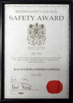 British Safety Council Award 2000