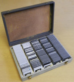 2-Tone Grey Faux Leather Slide Case