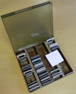 Clear & Brown Plasic Slide Case