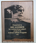 General Dynamics Plaque