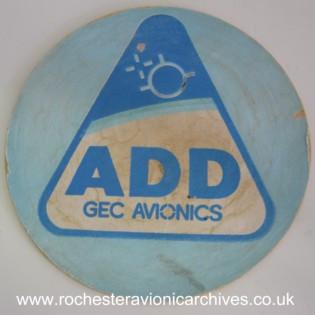 GEC Avionics ADD Beer Mat