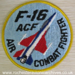 YF-16 ACF Sew-On Badge