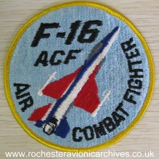 YF-16 ACF Cloth Badge