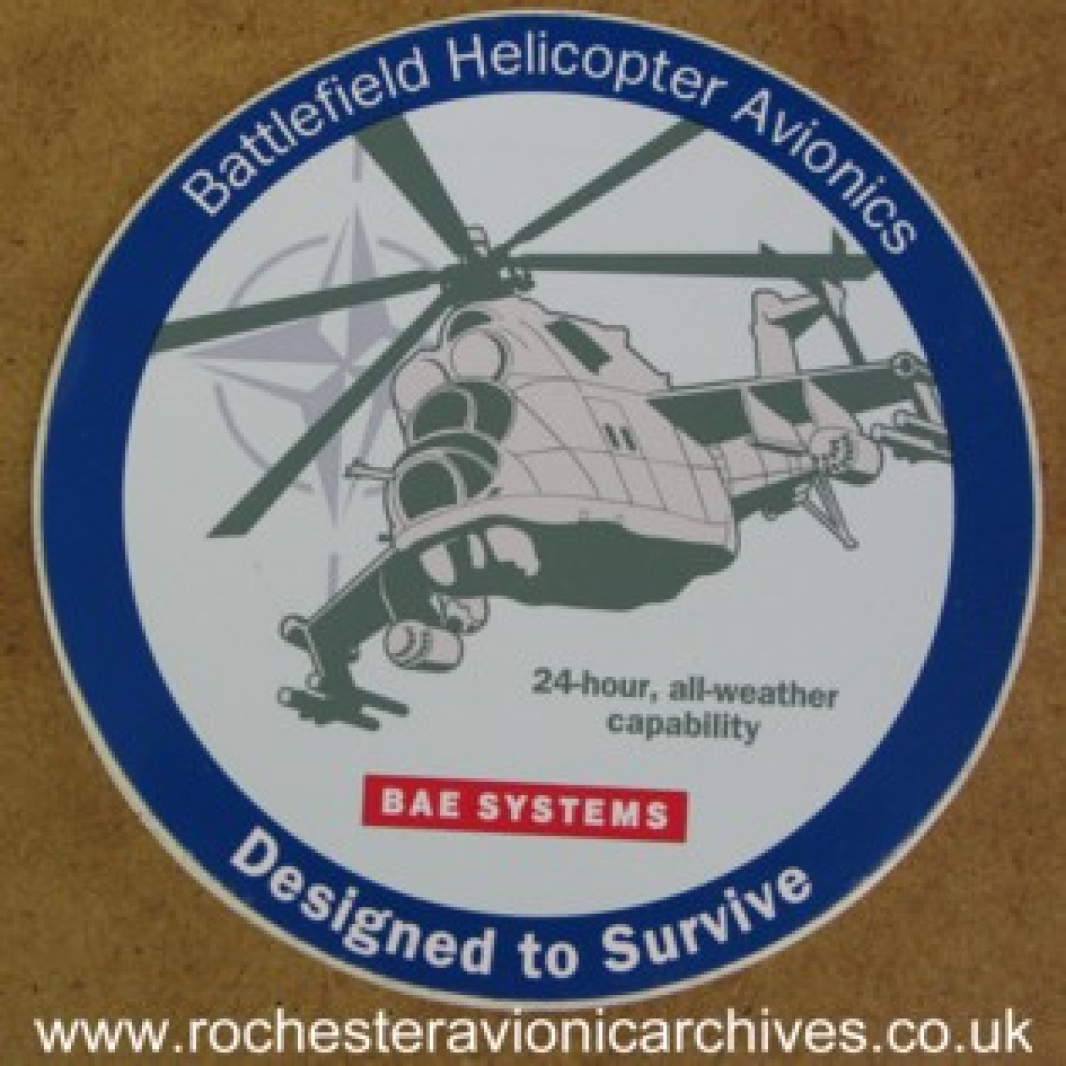 Battlefield Helicopter Avionics Sticker