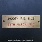 5000th F-16 HUD Nameplate