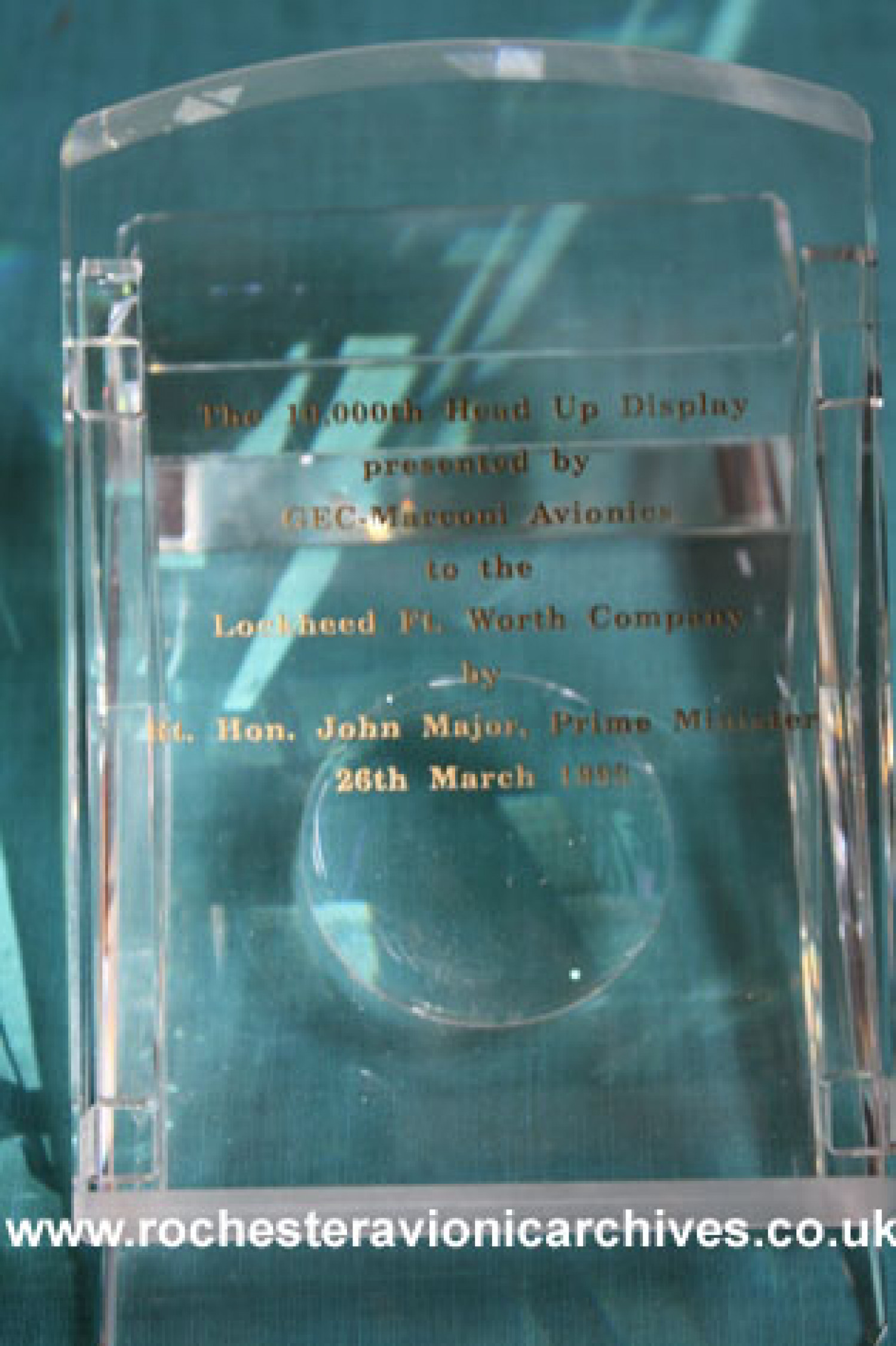 Presentation glass model for the 10,000th HUD