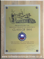 Industrial College of the Armed Forces Plaque