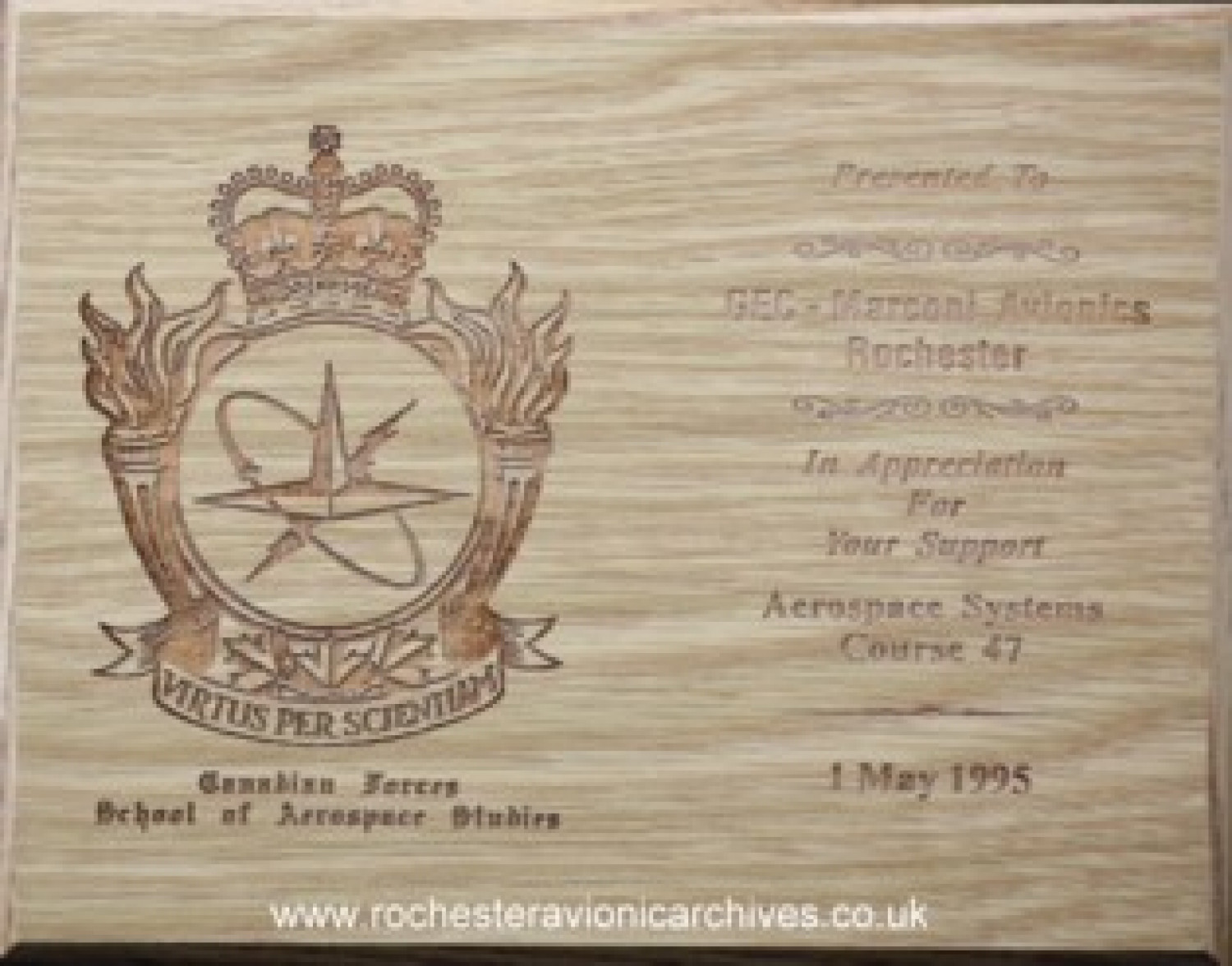 Aerospace Systems Course 1995 Award