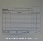 Material Requisition Forms Pad