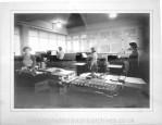 Early picture of the Data Processing Room at Rochester (1)
