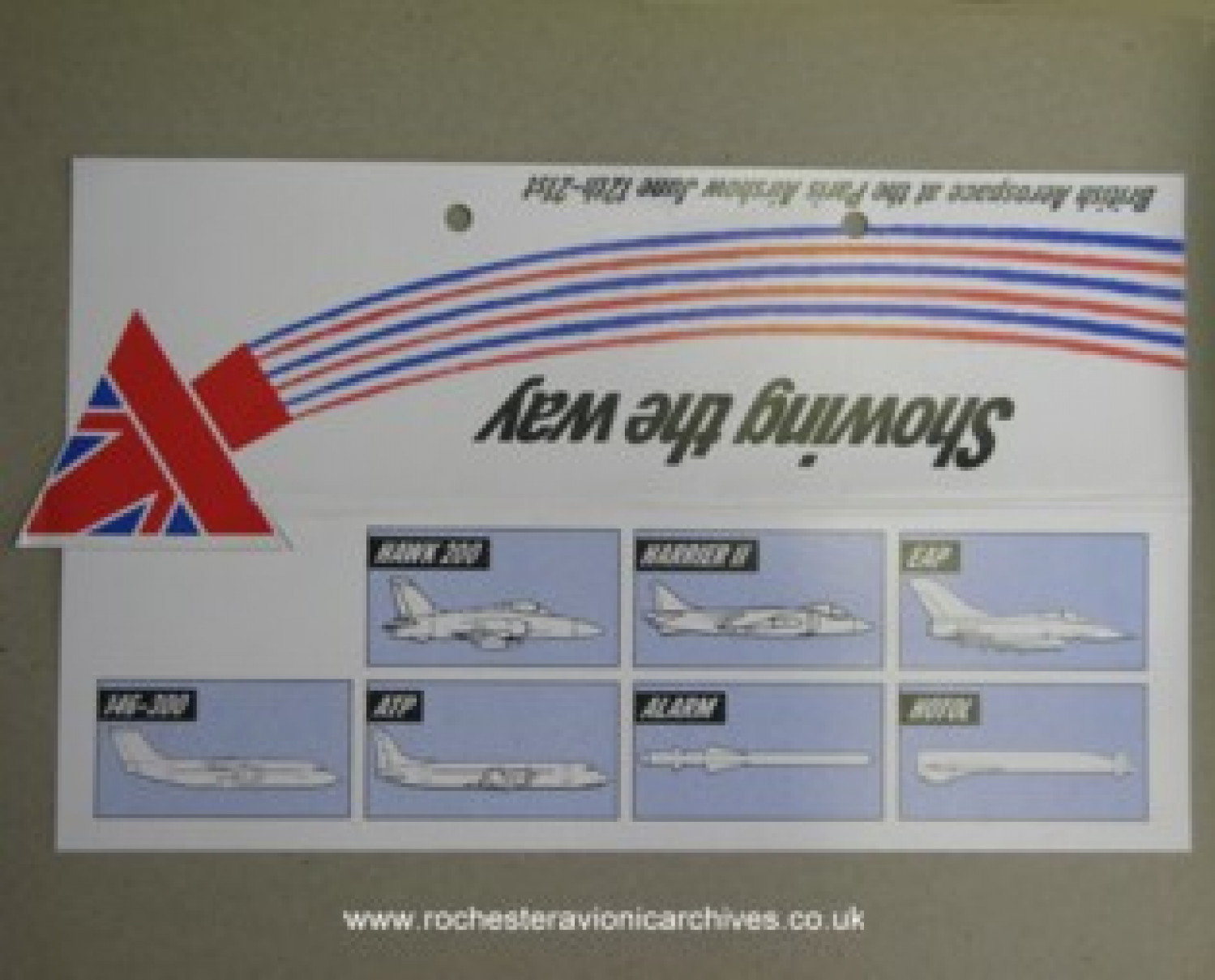 British Aerospace Paris Airshow Display Card