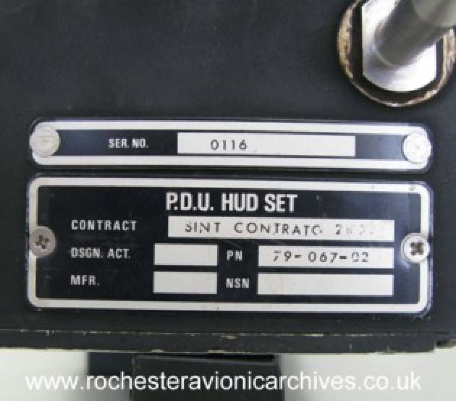 HUD Pilot's Display Unit