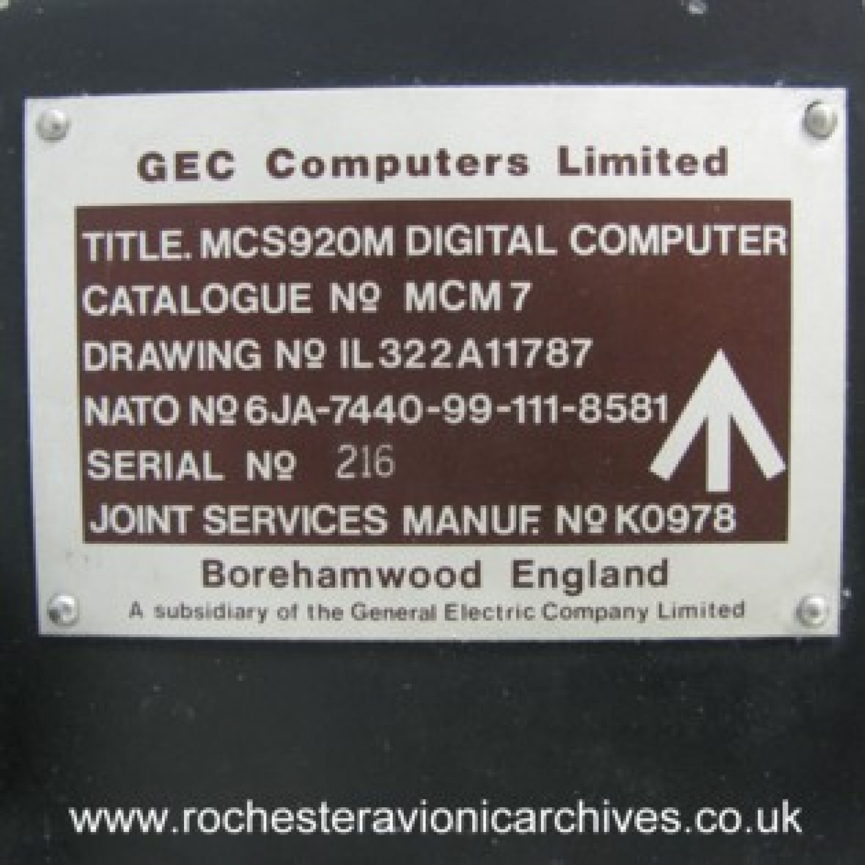 Elliott 920M Computer