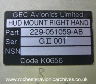 Gulfstream HUD Overhead Unit Mounting Tray